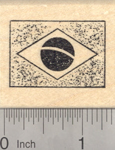 Flag of Brazil Rubber Stamp