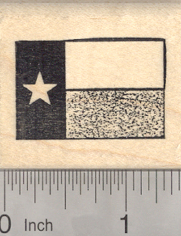 Flag of Texas Rubber Stamp, Lone Star