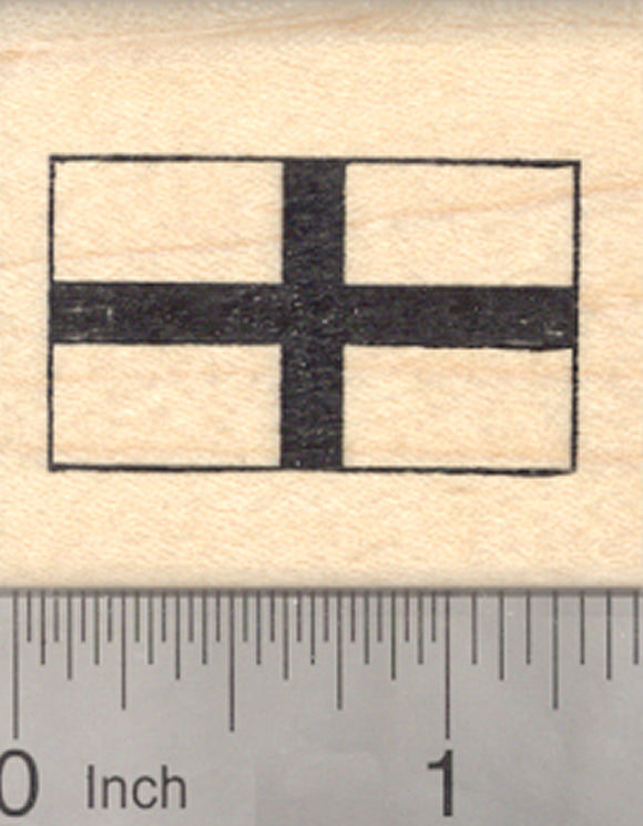 Flag of England Rubber Stamp, St George's Cross