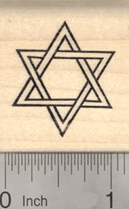 Star of David Rubber Stamp 1 1/8""