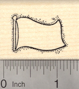 Flag Blank Rubber Stamp (Use as a white flag or add your own flag design)