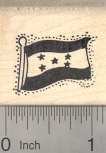 Flag of Honduras Rubber Stamp