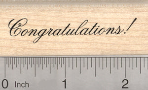 Congratulations Rubber Stamp, Graduation, Wedding, Baby, Promotion