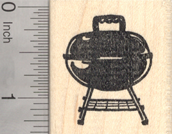 Barbecue Grill Rubber Stamp, Grillout, Cookout
