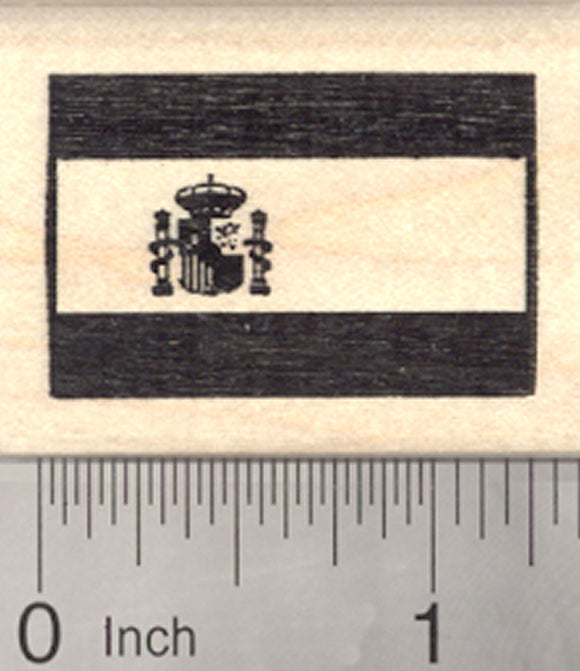 Flag of Spain Rubber Stamp, La Rojigualda