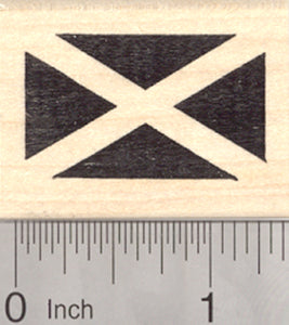 Flag of Scotland Rubber Stamp, Saint Andrew's Cross, Saltire
