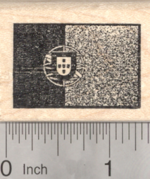 Flag of Portugal Rubber Stamp, Portuguese Republic Shield