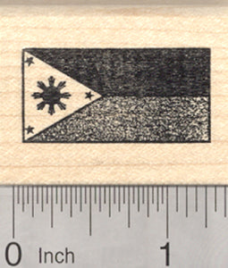 Flag of the Philippines Rubber Stamp, Three Stars And A Sun