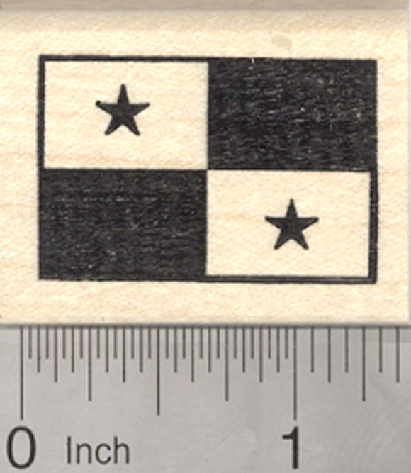 Flag of Panama Rubber Stamp, Central America
