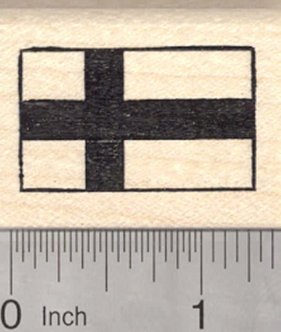 Flag of Finland Rubber Stamp, Siniristilippu, Blue Nordic Cross