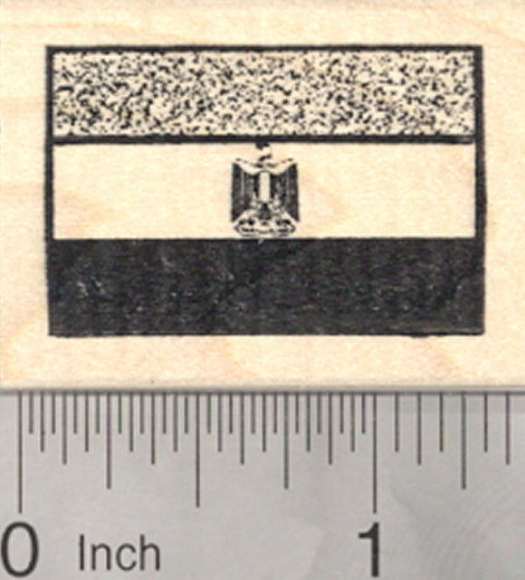 Flag of Egypt Rubber Stamp, Eagle of Saladin