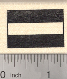 Flag of Austria Rubber Stamp, Central Europe