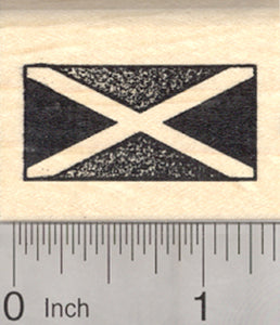 Flag of Jamaica Rubber Stamp, Saltire