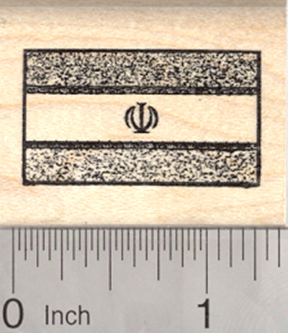 Flag of Iran Rubber Stamp,