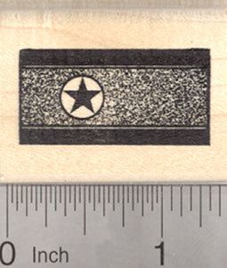 Flag of North Korea Rubber Stamp, Democratic People's Republic of Korea