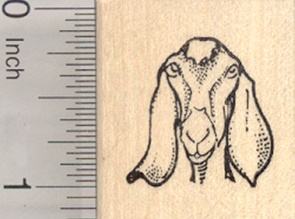 Nubian Goat Rubber Stamp, Small