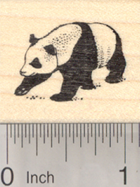 Giant Panda Rubber Stamp, Small