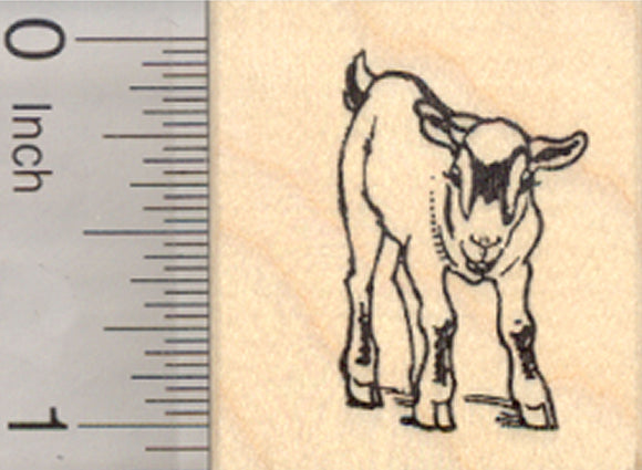 Pygmy Goat Rubber Stamp, Small