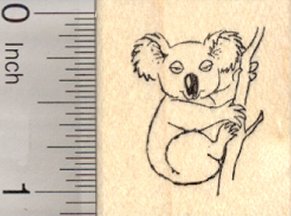 Koala Bear Rubber Stamp, Small