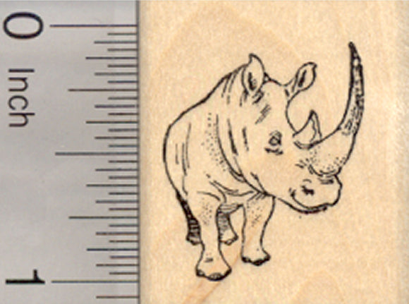 Rhinoceros rubber stamp, Rhino, Small