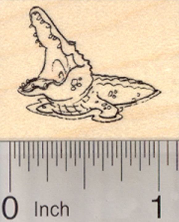 Crocodile Rubber Stamp, Small