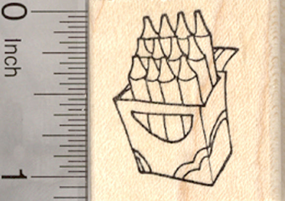 Crayon Box Rubber Stamp, Back to School Series