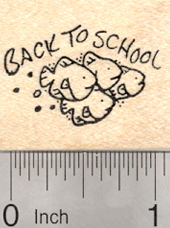 Back to School Fish Rubber Stamp