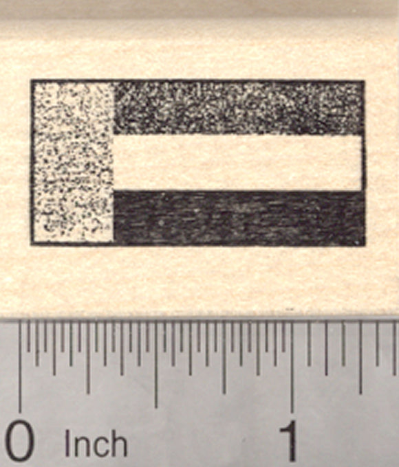 Flag of United Arab Emirates Rubber Stamp, UAE, Flags of the world series