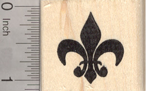 Fleur De Lis Rubber Stamp, French Iris Flower, Symbol of France