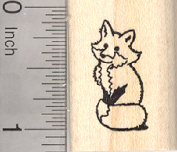 Sitting Fox Rubber Stamp, Small
