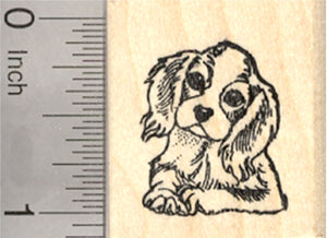 Cavalier King Charles Spaniel Rubber Stamp, Small