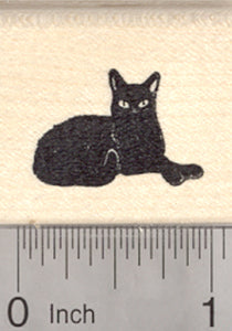 Black Cat Rubber Stamp, Small