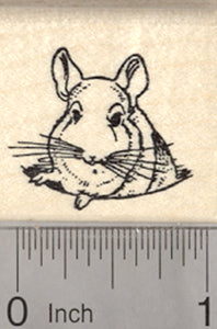 Chinchilla Rubber Stamp, Small