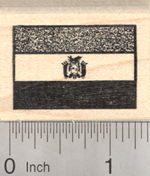 Flag of Bolivia Rubber Stamp