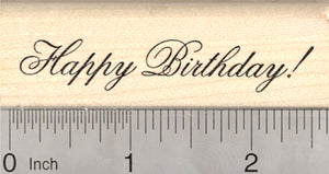 Happy Birthday Rubber Stamp, Text