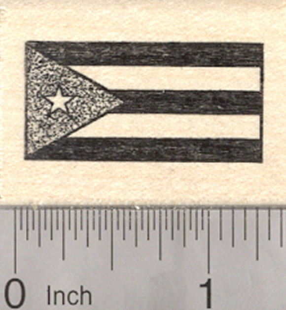 Flag of Cuba Rubber Stamp