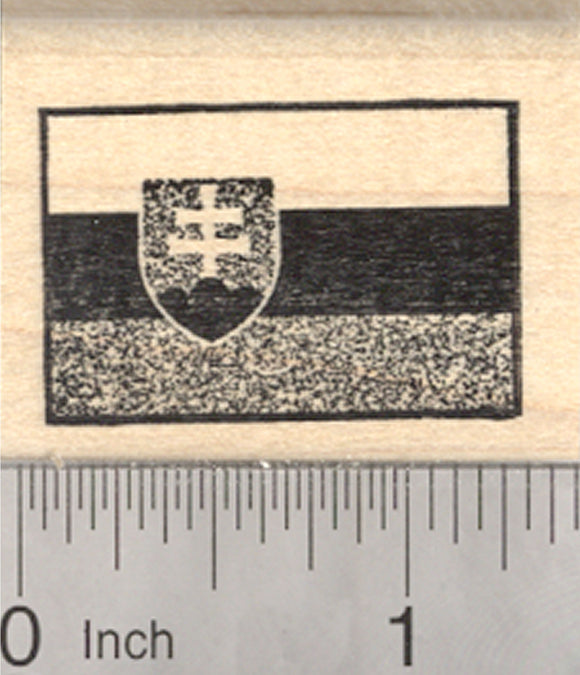Flag of Slovakia Rubber Stamp
