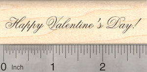 Happy Valentine's Day Rubber Stamp, Script