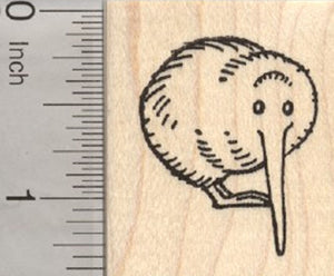Kiwi Rubber Stamp, Flightless Bird of New Zealand