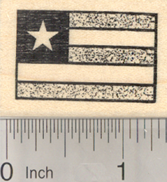 Flag of Togo Rubber Stamp