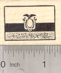 Flag of Ecuador Rubber Stamp