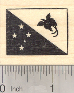 Flag of Papua New Guinea Rubber Stamp