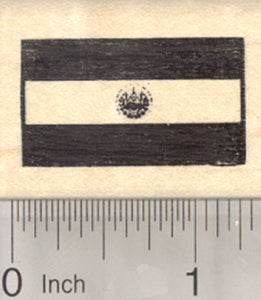 Flag of El Salvador Rubber Stamp