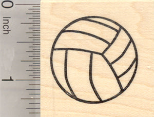 Volleyball Rubber Stamp, Sport