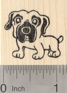 Mastiff Dog Rubber Stamp