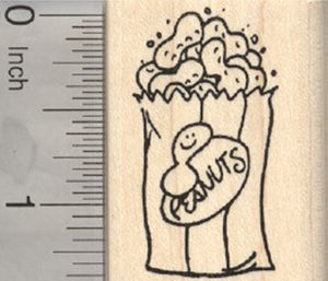 Bag of Roasted Peanuts Rubber Stamp