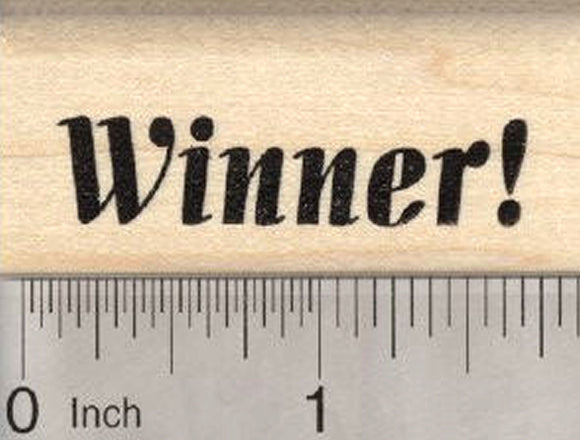 Winner Rubber Stamp