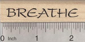 Breathe Rubber Stamp, for Yoga or Meditation