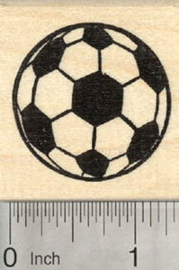 Soccer Ball Rubber Stamp, Association Football