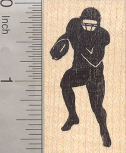 American Football Player Rubber Stamp, Silhouette